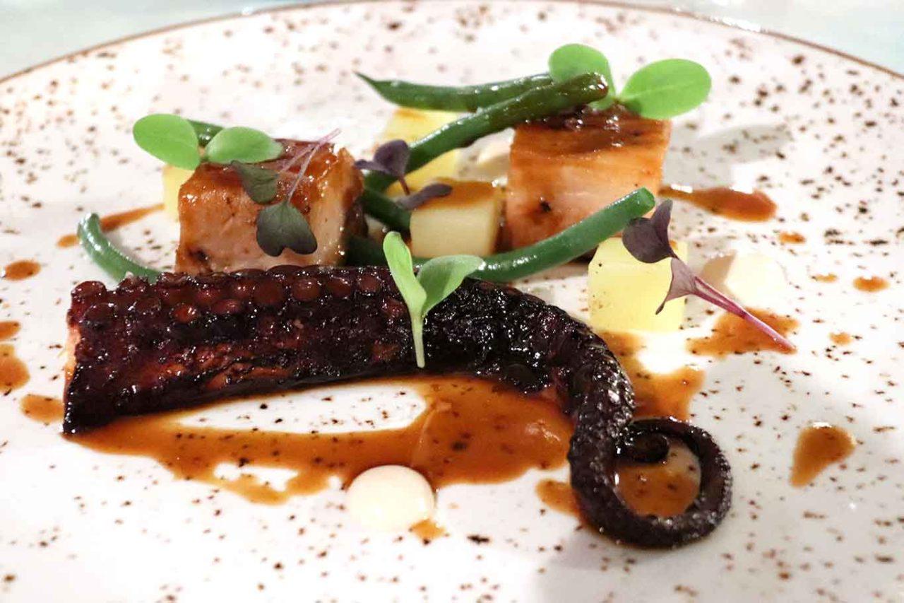ristorante Belvedere Hotel Caruso Ravello polpo e pancetta