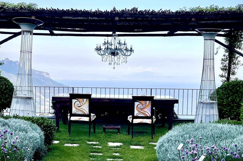 ristorante Belvedere Hotel Caruso Ravello tavolo terrazza