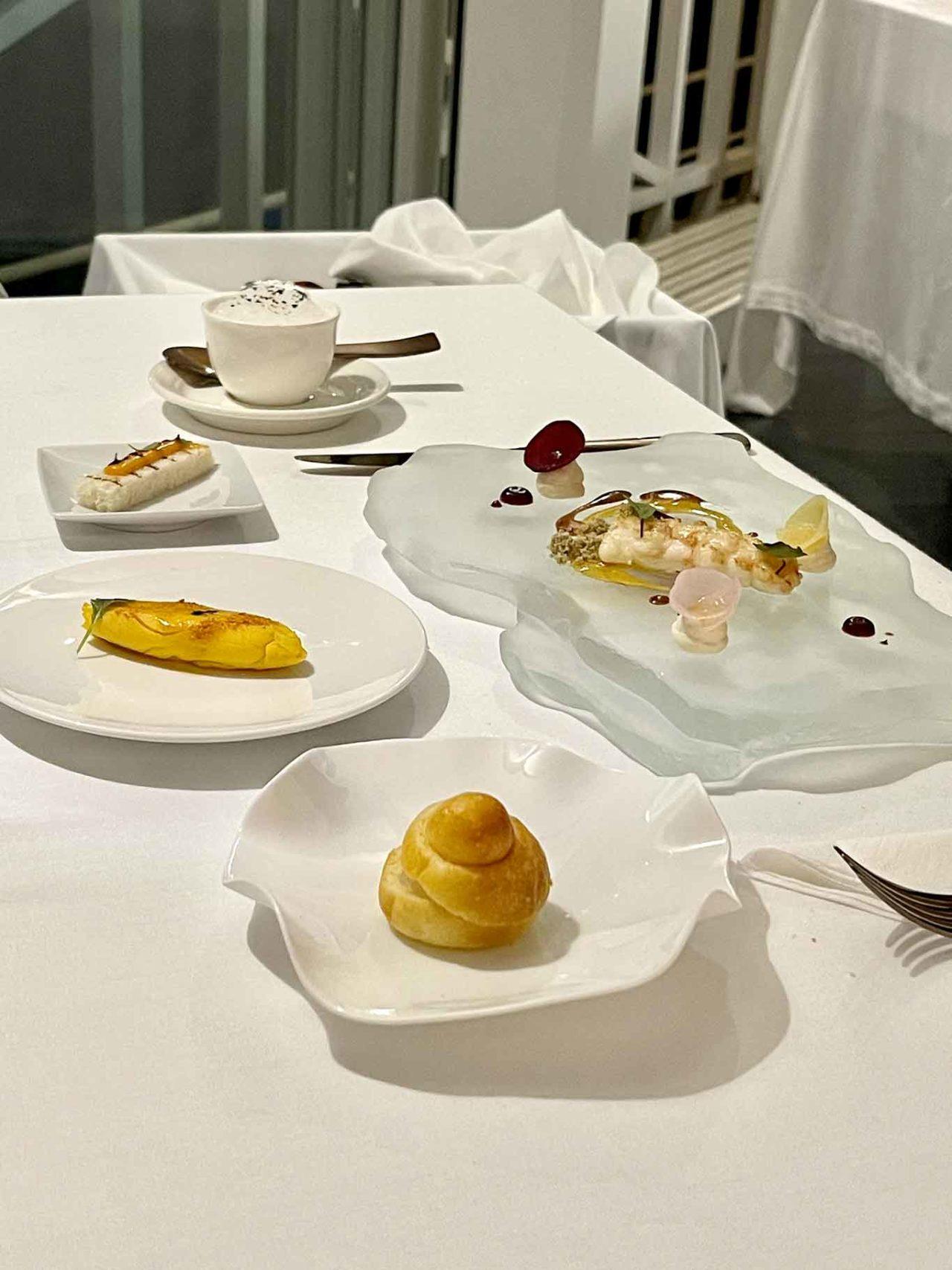 scampo a colazione ristorante Indaco Ischia