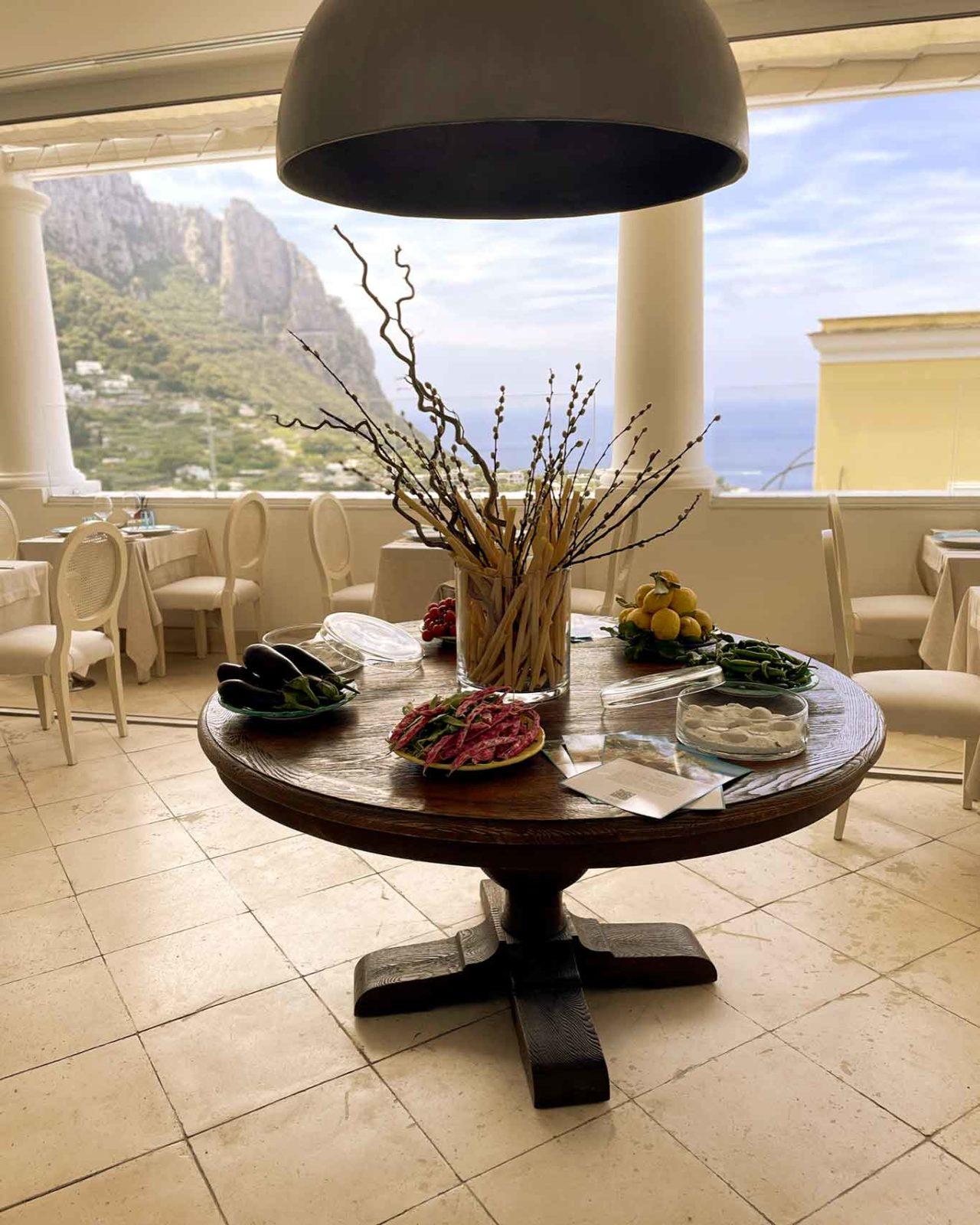 ristorante Mammà Capri panorama