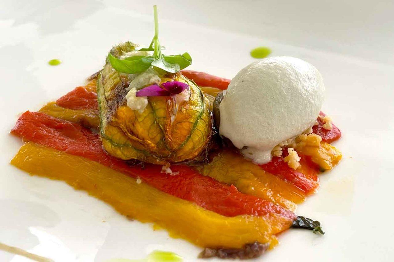 ristorante Re Maurì Salerno fiori di zucca e peperoni
