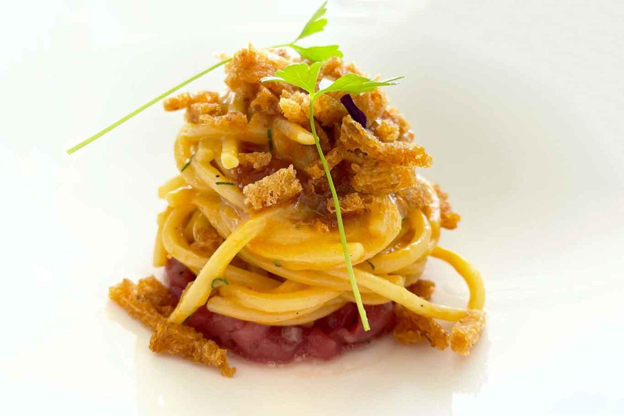 ristorante Re Maurì Salerno spaghetti alla chitarra