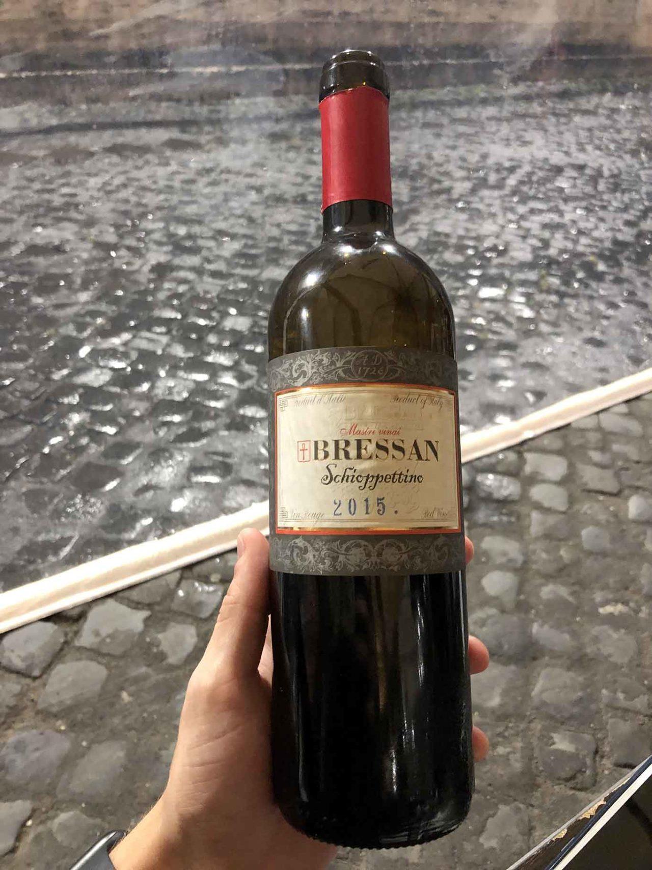 vino schioppettino Bressan