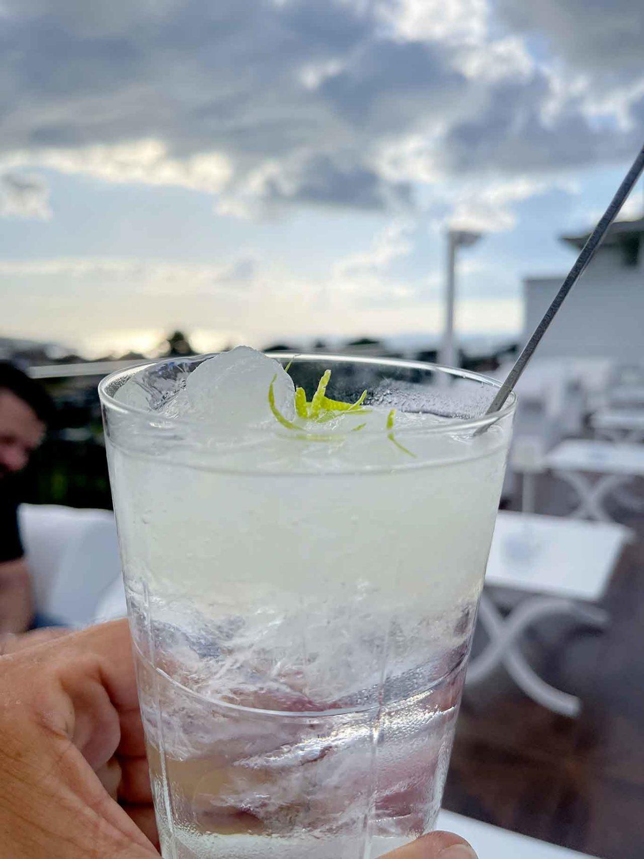 Dry Martini Sorrento gin tonic e granita