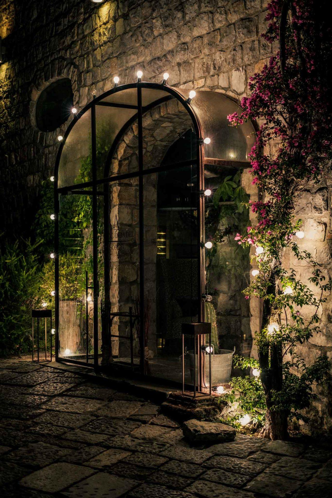 Locanda del Borgo ristorante Telese Terme ingresso