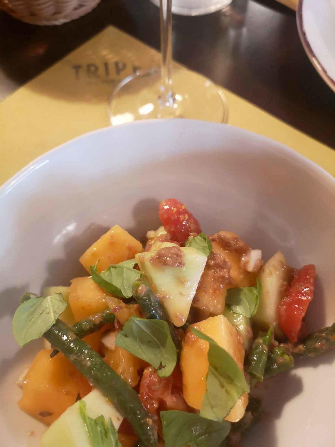 Trippa Milano osteria insalata di melone