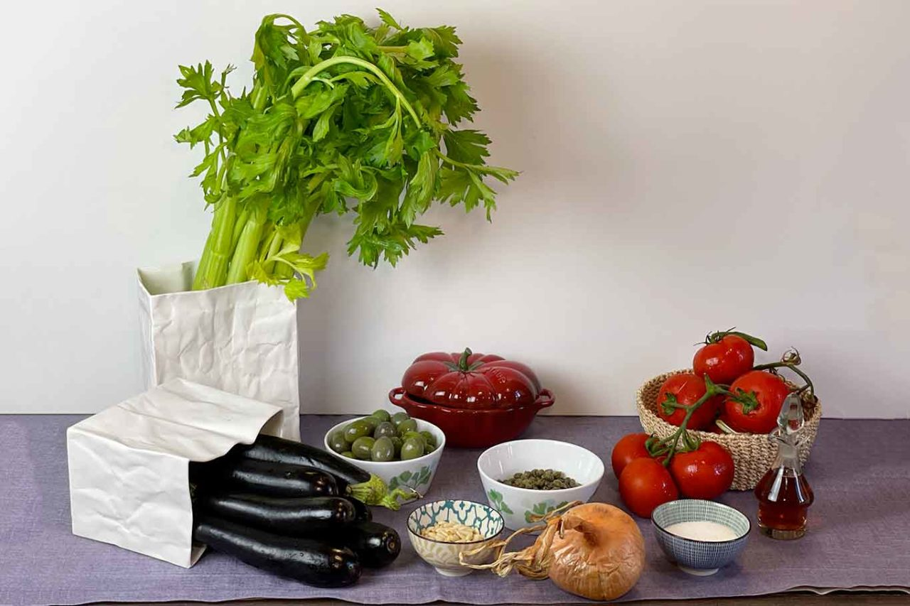 caponata siciliana alla messinese ingredienti
