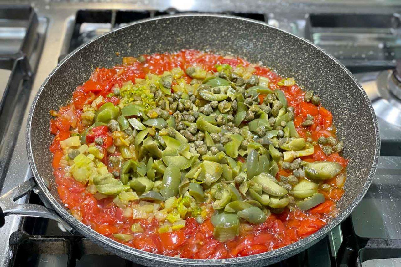 caponata siciliana alla messinese preparazione
