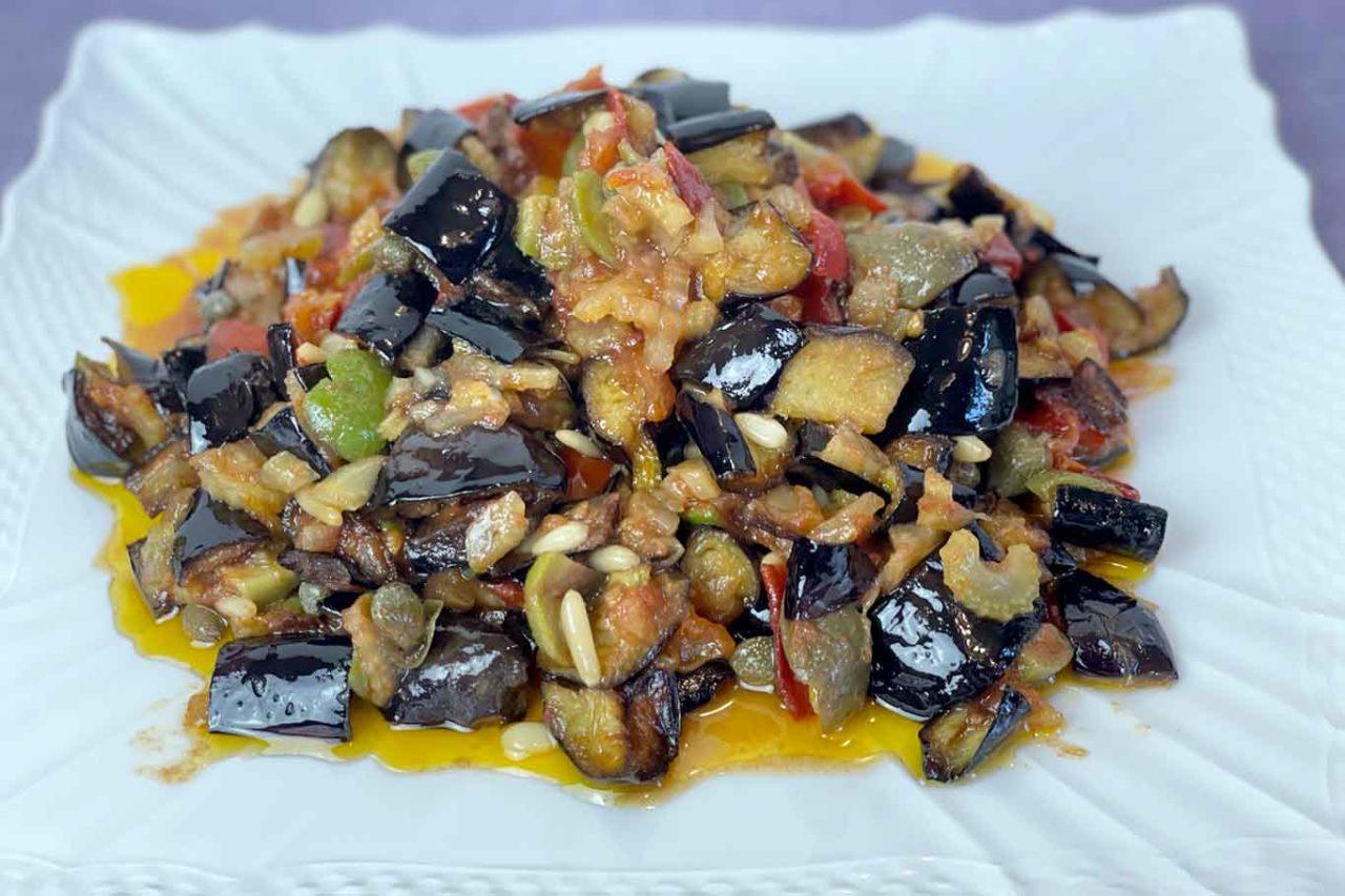 caponata siciliana alla messinese pronta