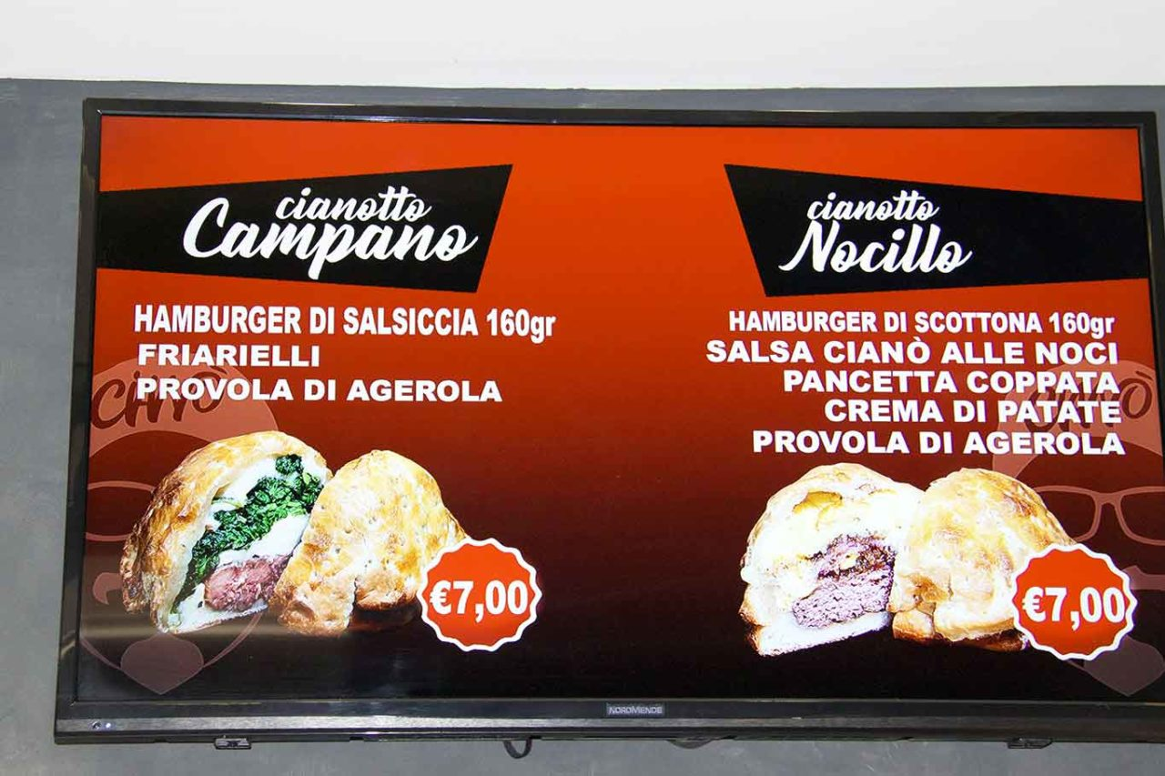 cianotto street food Pomigliano d'Arco prezzi