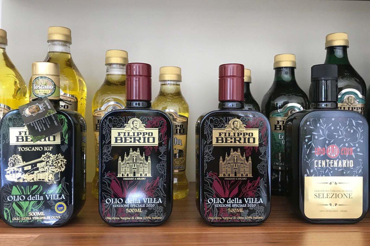 bottiglie olio extravergine di oliva blend