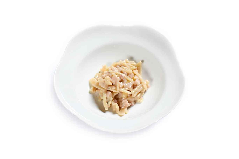 nuovo menu da 150 € ristorante Reale Niko Romito pasta fredda calamari