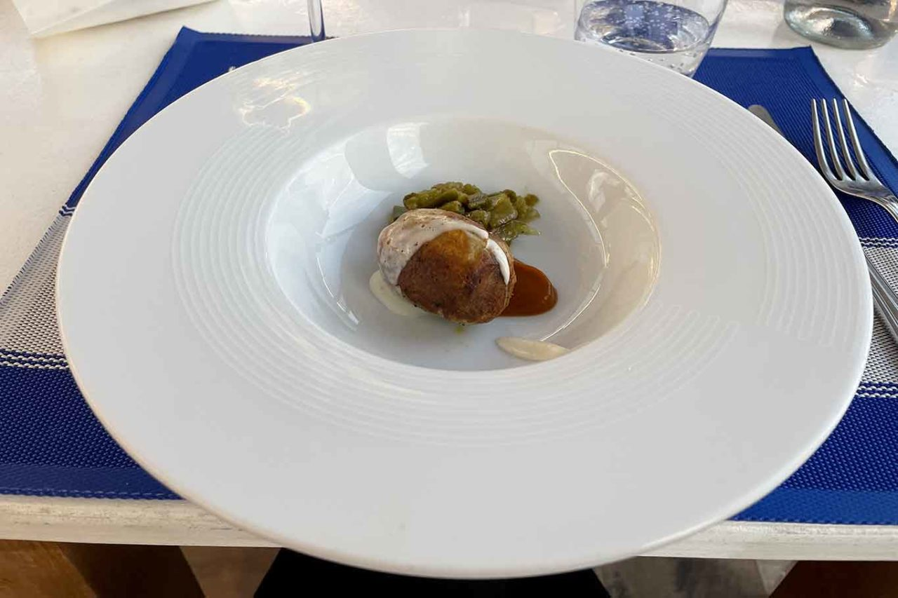 ristorante la Scialuppa da Salvatore a Fregene salsiccia di ombrina