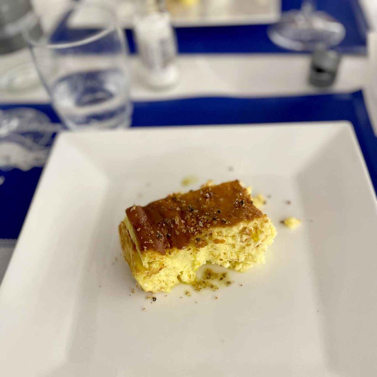 ristorante la Scialuppa da Salvatore a Fregene torta al formaggio