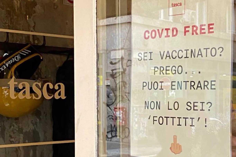 ristorante milano non sei vaccinato fottiti