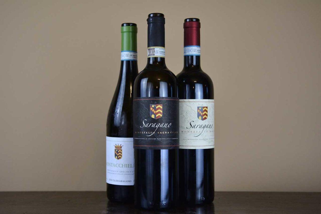 vini tenuta di Saragano oltre il Sagrantino