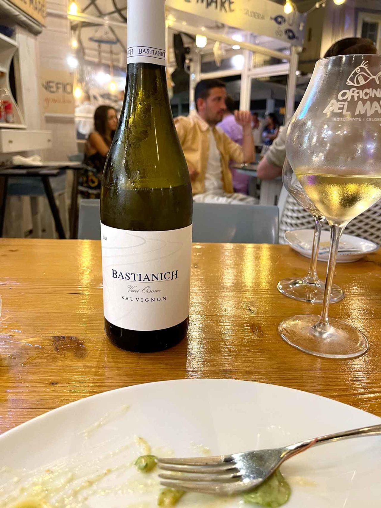 vino sauvignon Bastianich