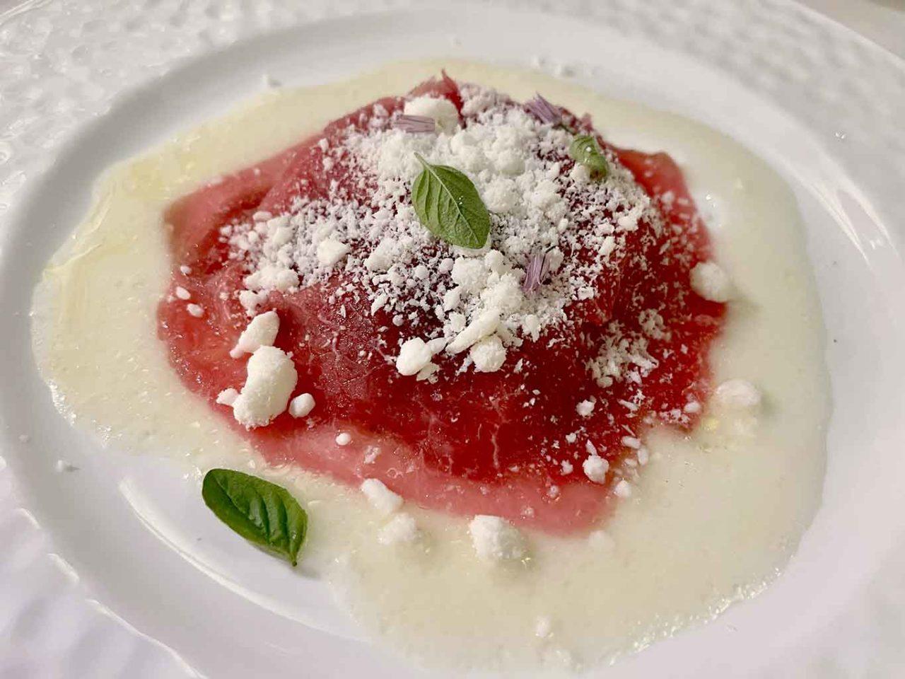 Flauto di Pan ristorante Ravello: carne alla pizzaiola