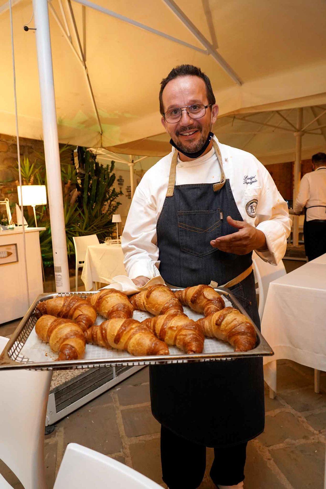 Luigi Iapigio al ristorante Il Veliero Acciaroli Cilento