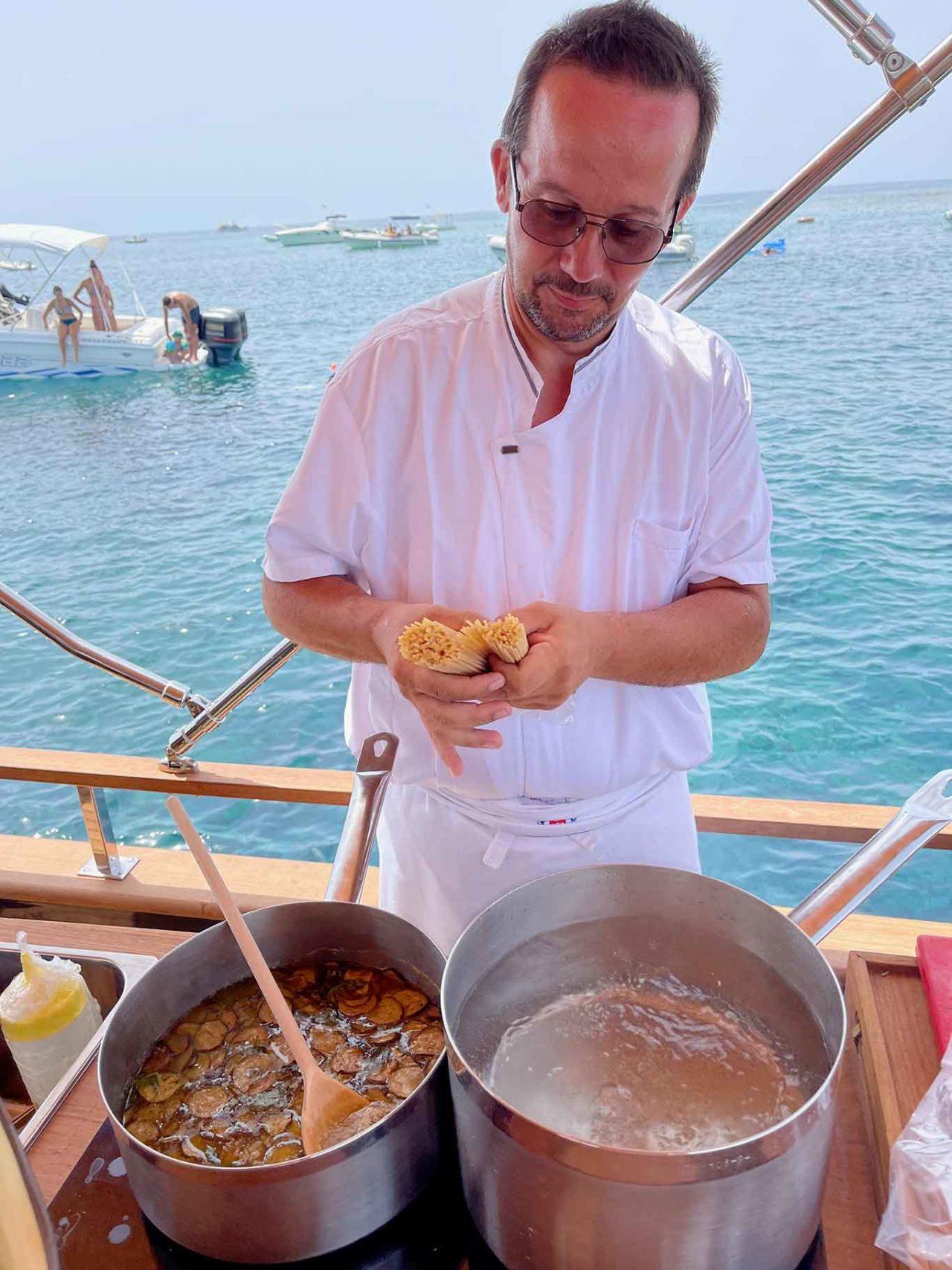 spaghetti sulla barca