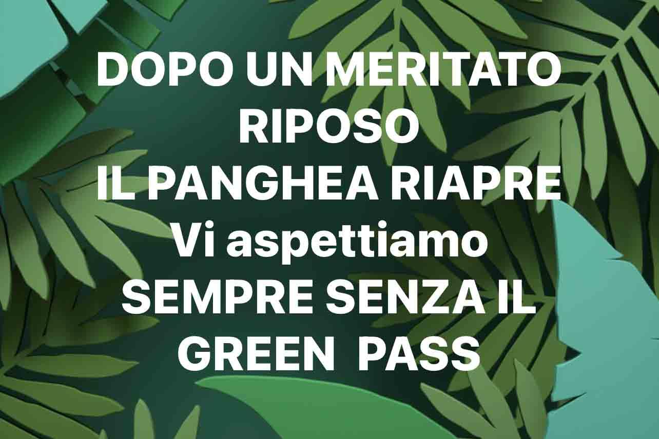 Ristorante Panghea no green pass