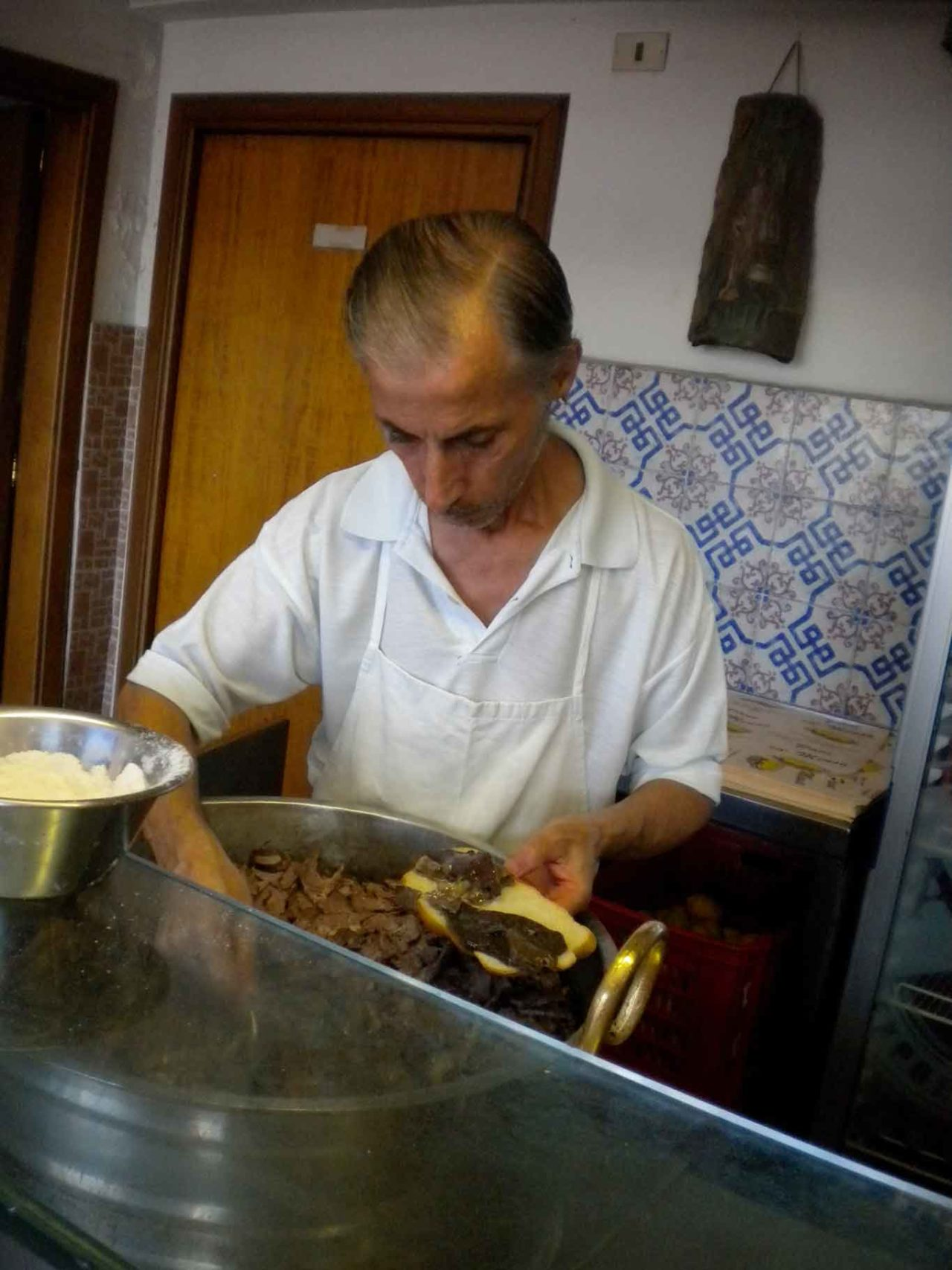 street food a Palermo: pani ca meusa