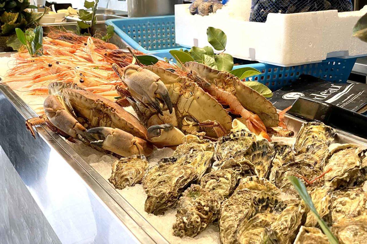 ristorante Punto Nave banco dei crostacei