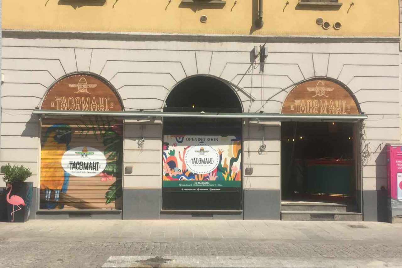Nuove aperture d'autunno a Milano el tacomaki corso como esterno in corso Como