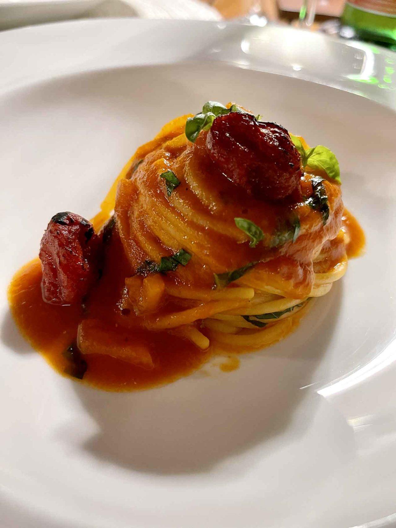 ristorante Il Corbezzolo Botania Relais Ischia: spaghetto al pomodoro
