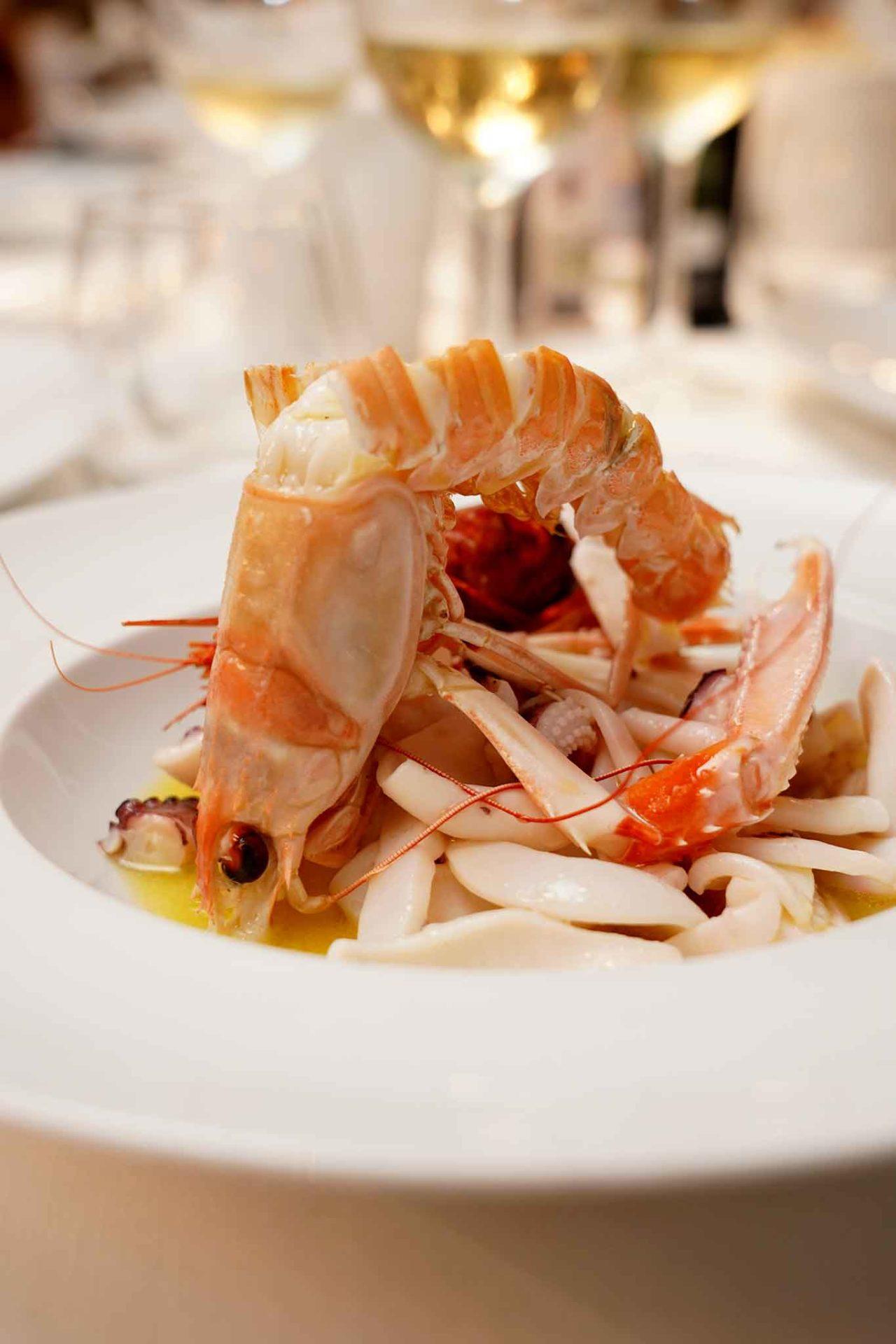 ristorante Il Veliero Acciaroli Cilento insalata tiepida di mare