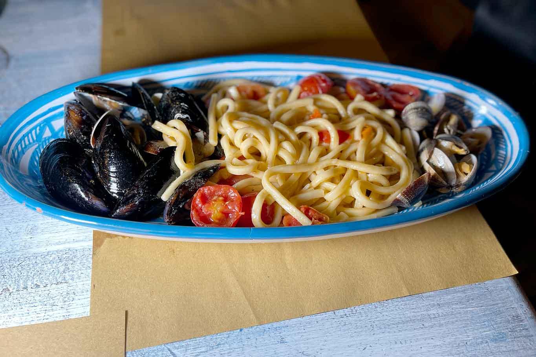 scialatielli cozze e vongole La Taverna del Guarracino Acciaroli