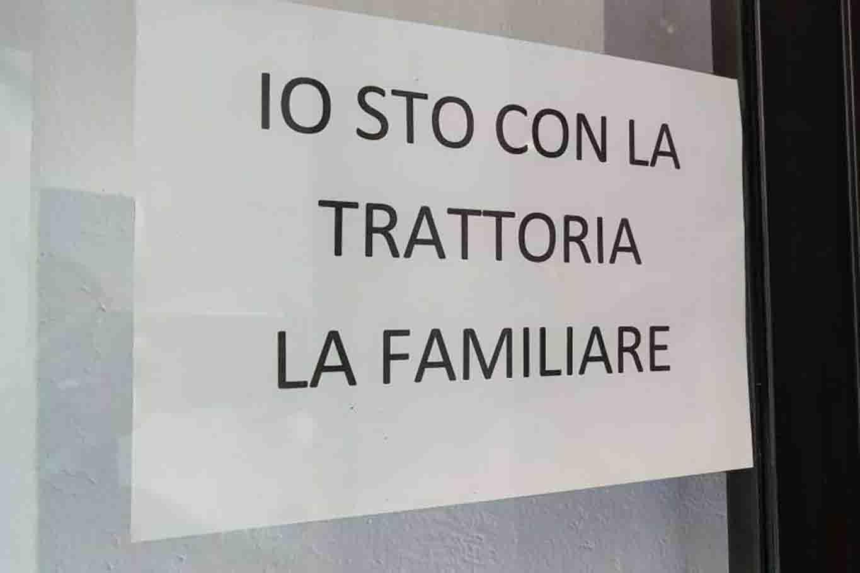 trattoria la Familiare Albissola cena recensione negativa cartello sostegno