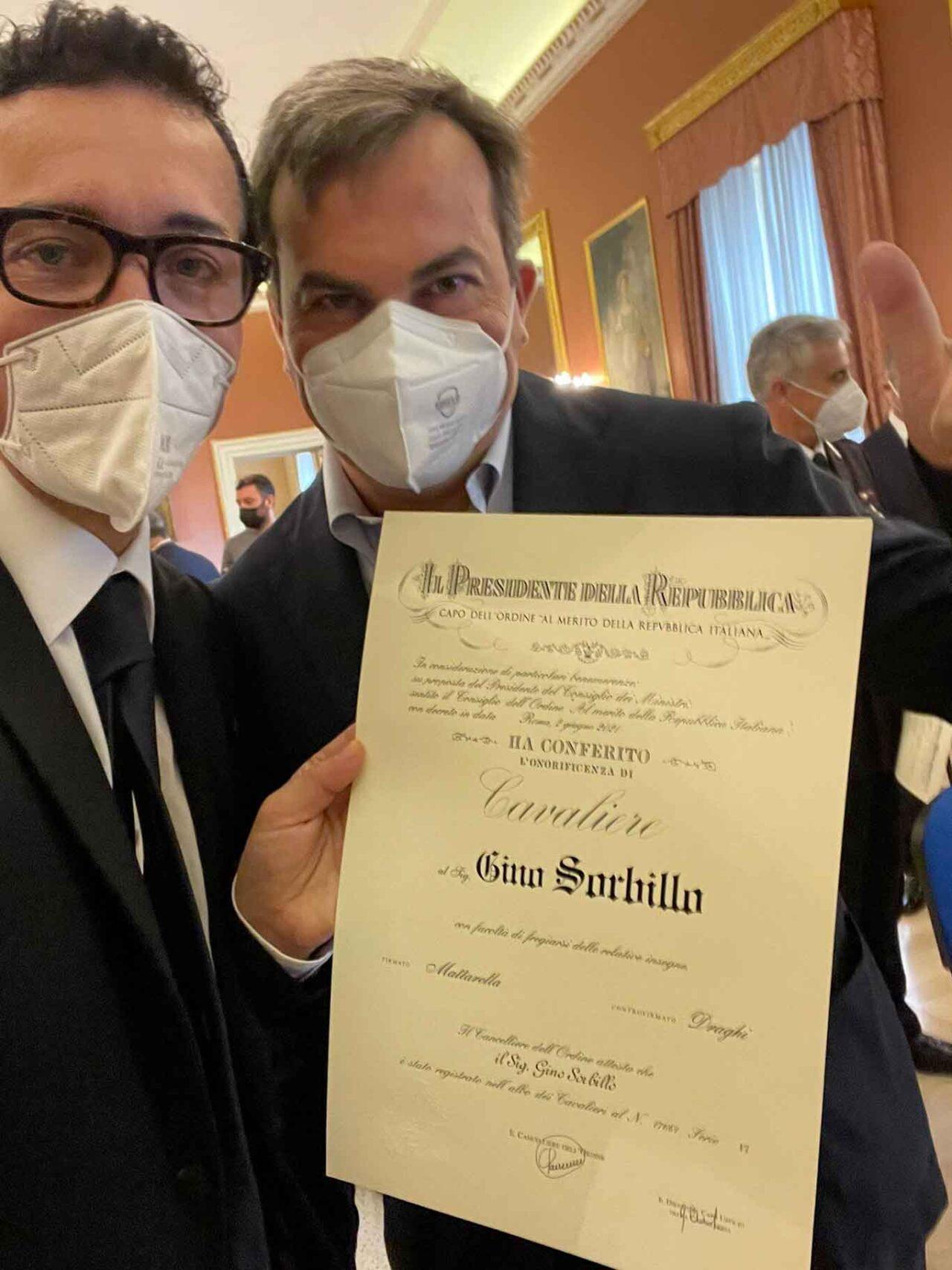 Gino Sorbillo Cavaliere con Enzo Amendola