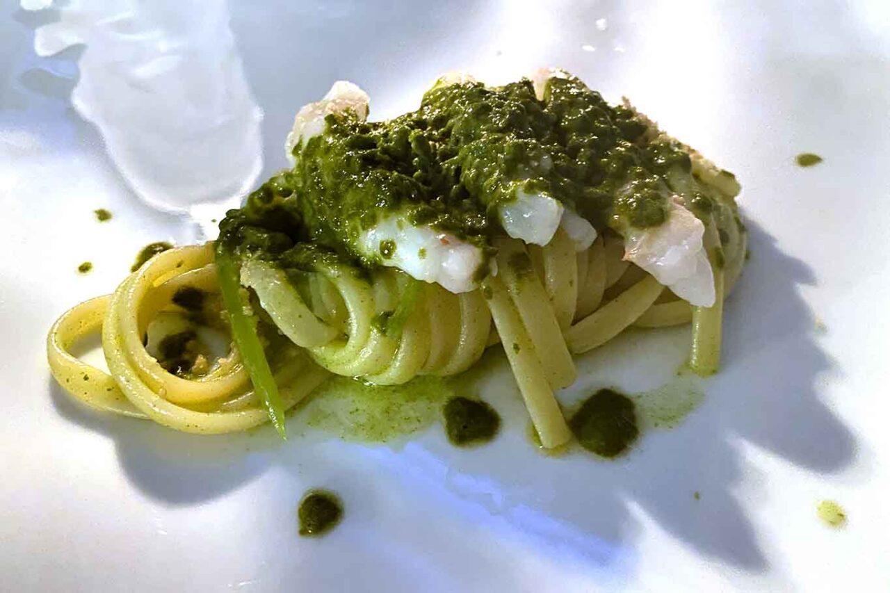 Terrazza Bosquet ristorante Sorrento linguine scampi