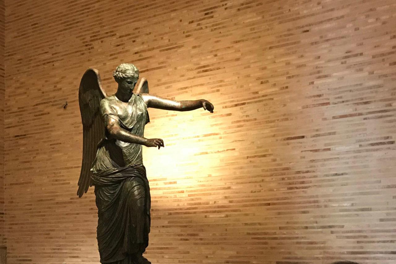 Brescia Vittoria Alata allestimento Baldeweg