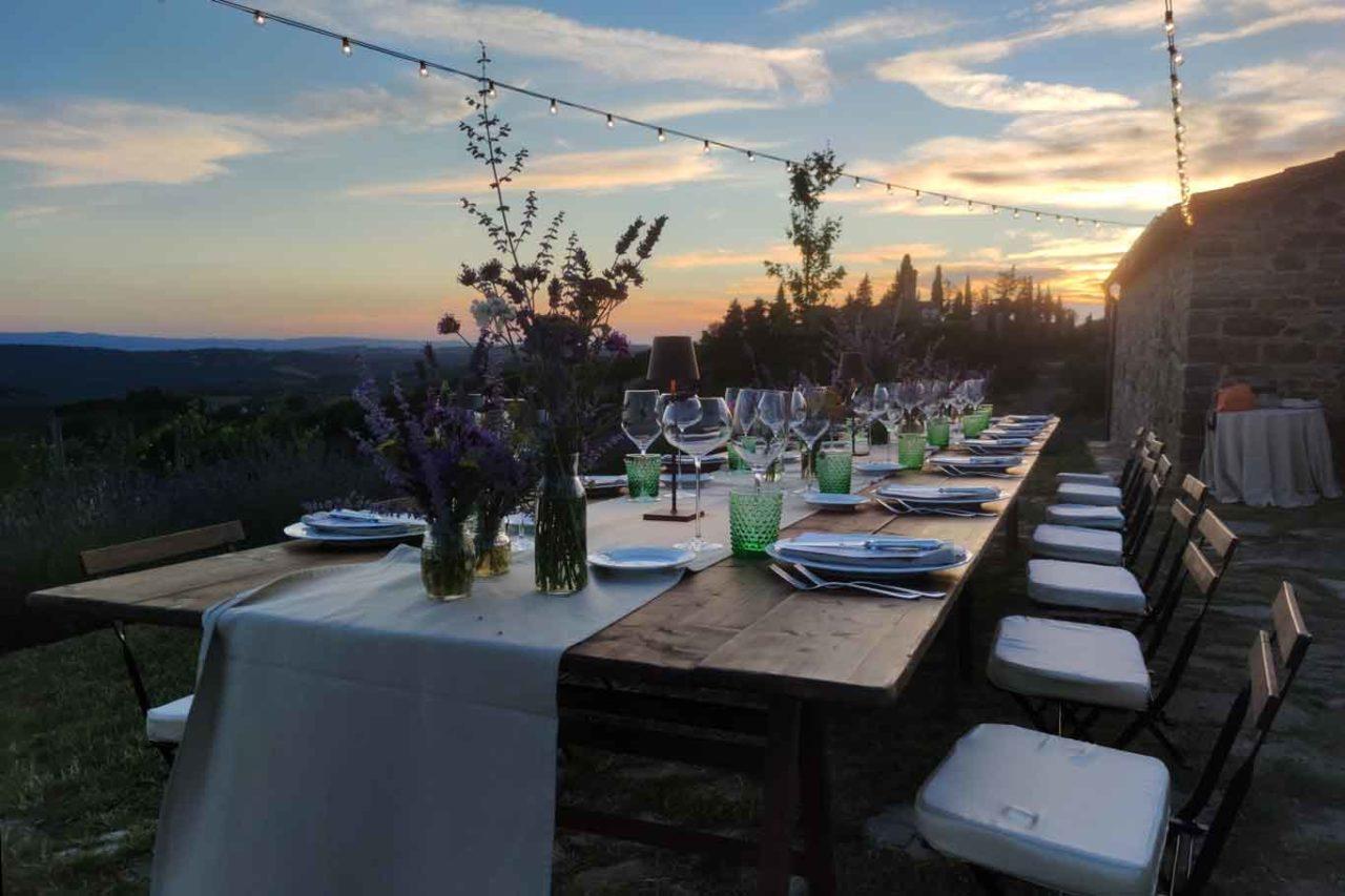Cena in vigna tenuta Casenuove Chianti Classico
