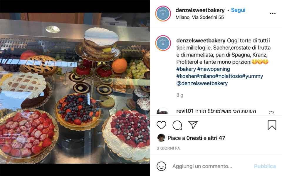 denzel sweet bakery novità autunno milano