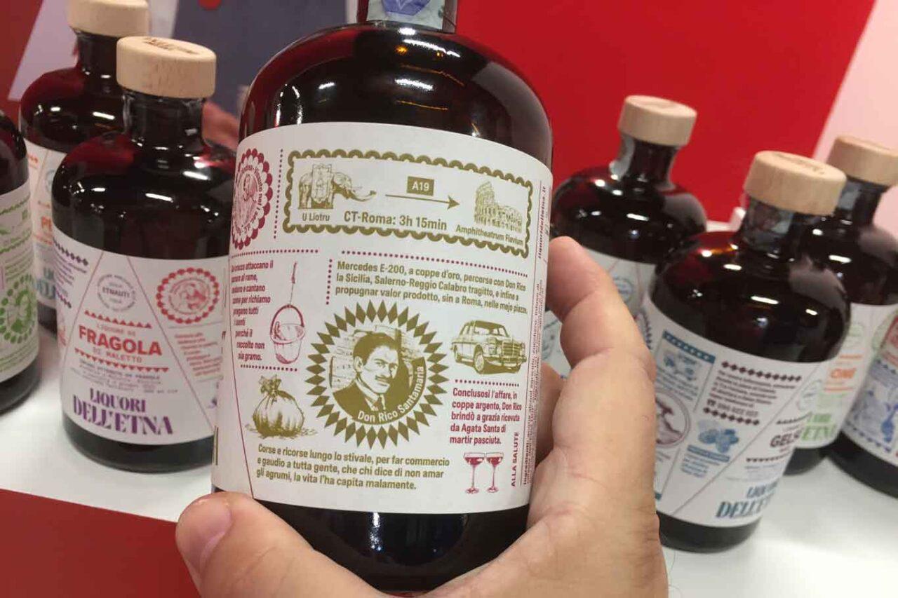 liquori etna ciliegia etichetta trasporto