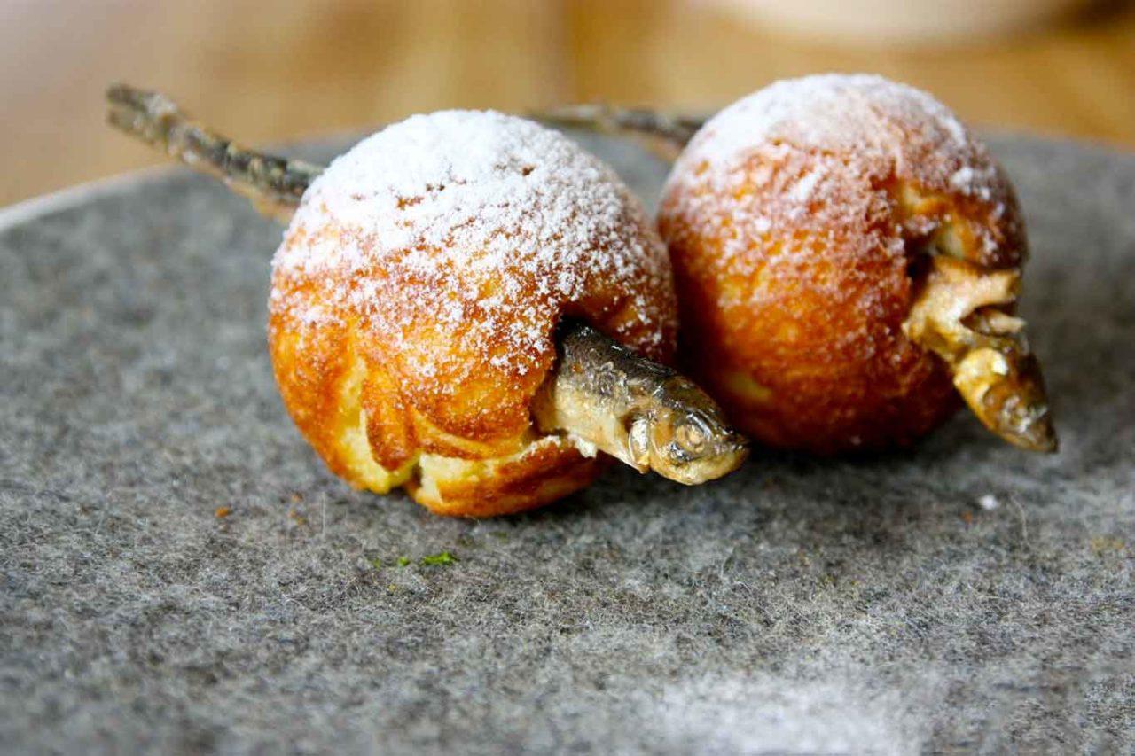 piatti del Noma: zeppoline di Natale