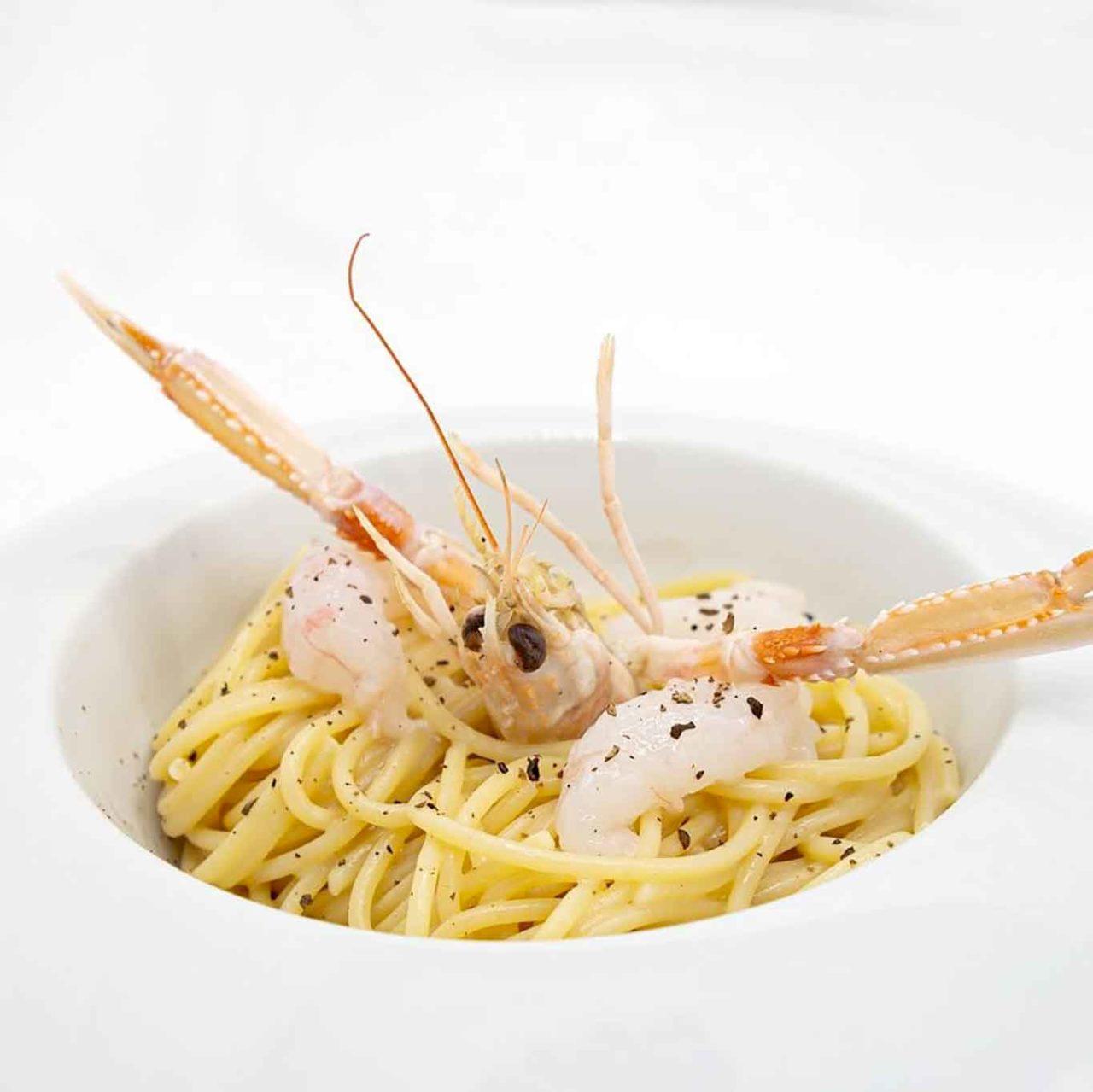 ristorante Carlo Ferraioli Pescara cacio e pepe scampi