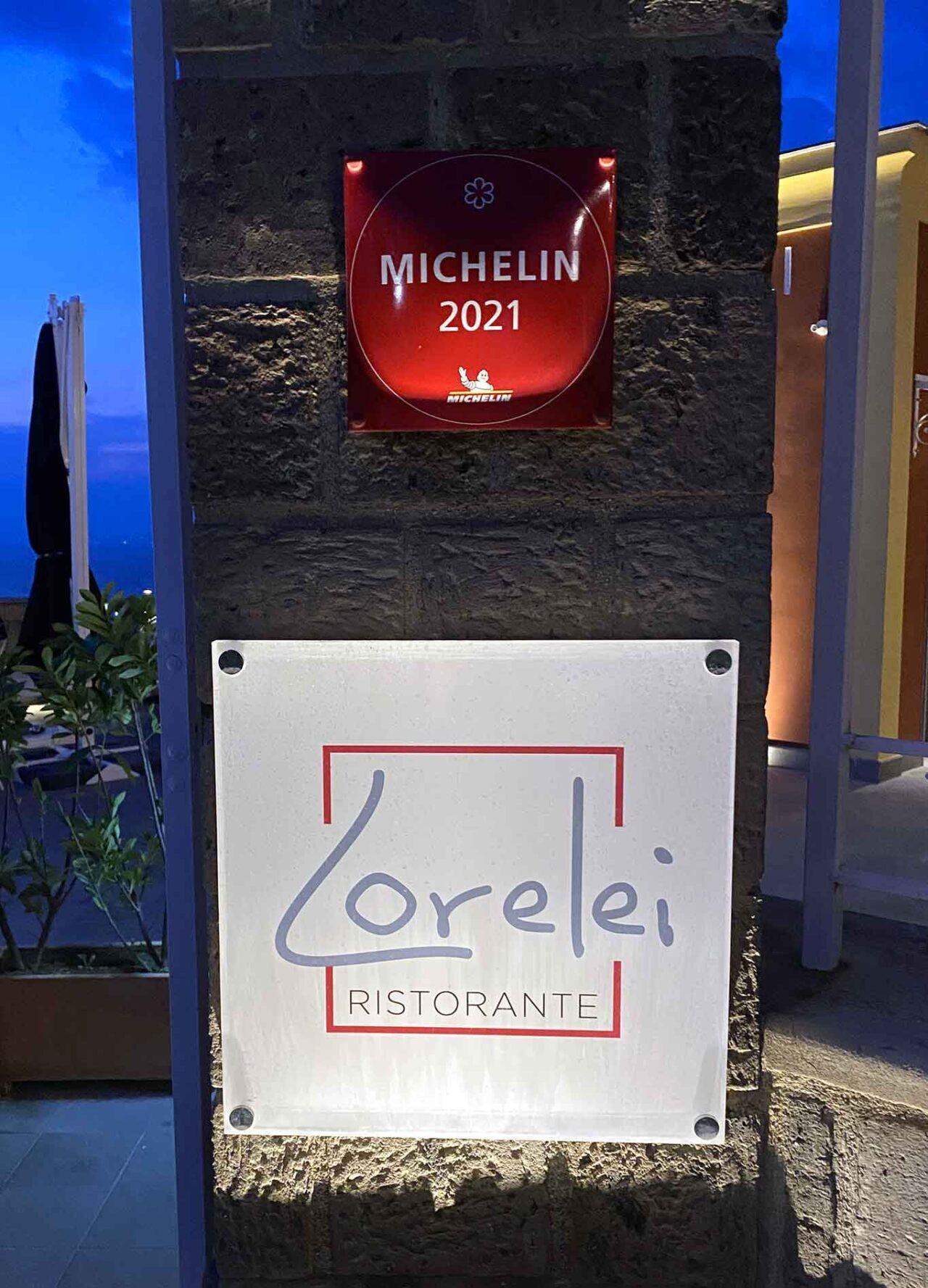 ristorante Lorelei Sorrento stella michelin