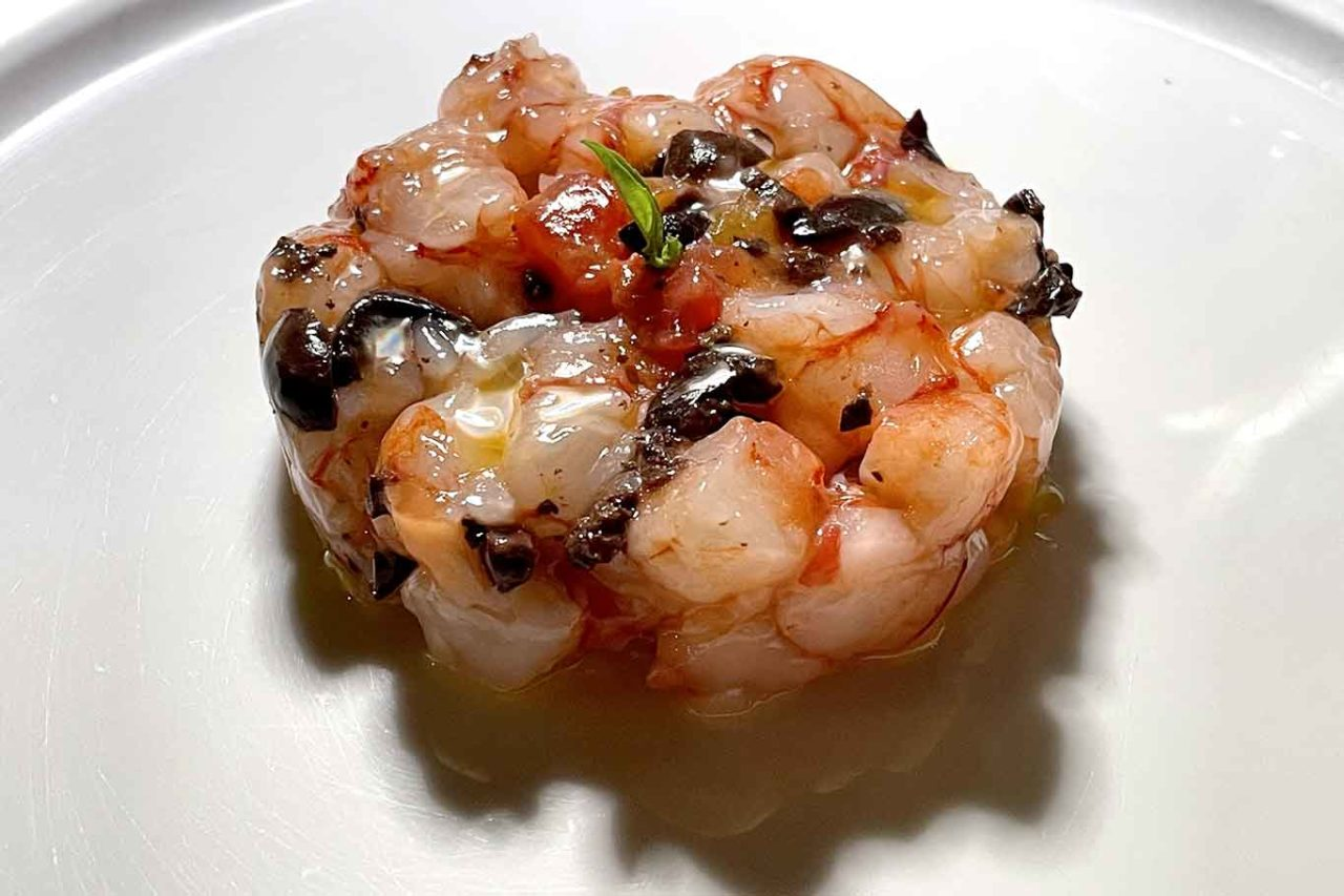 ristorante di pesce Pescheria Salerno tartare di gamberi