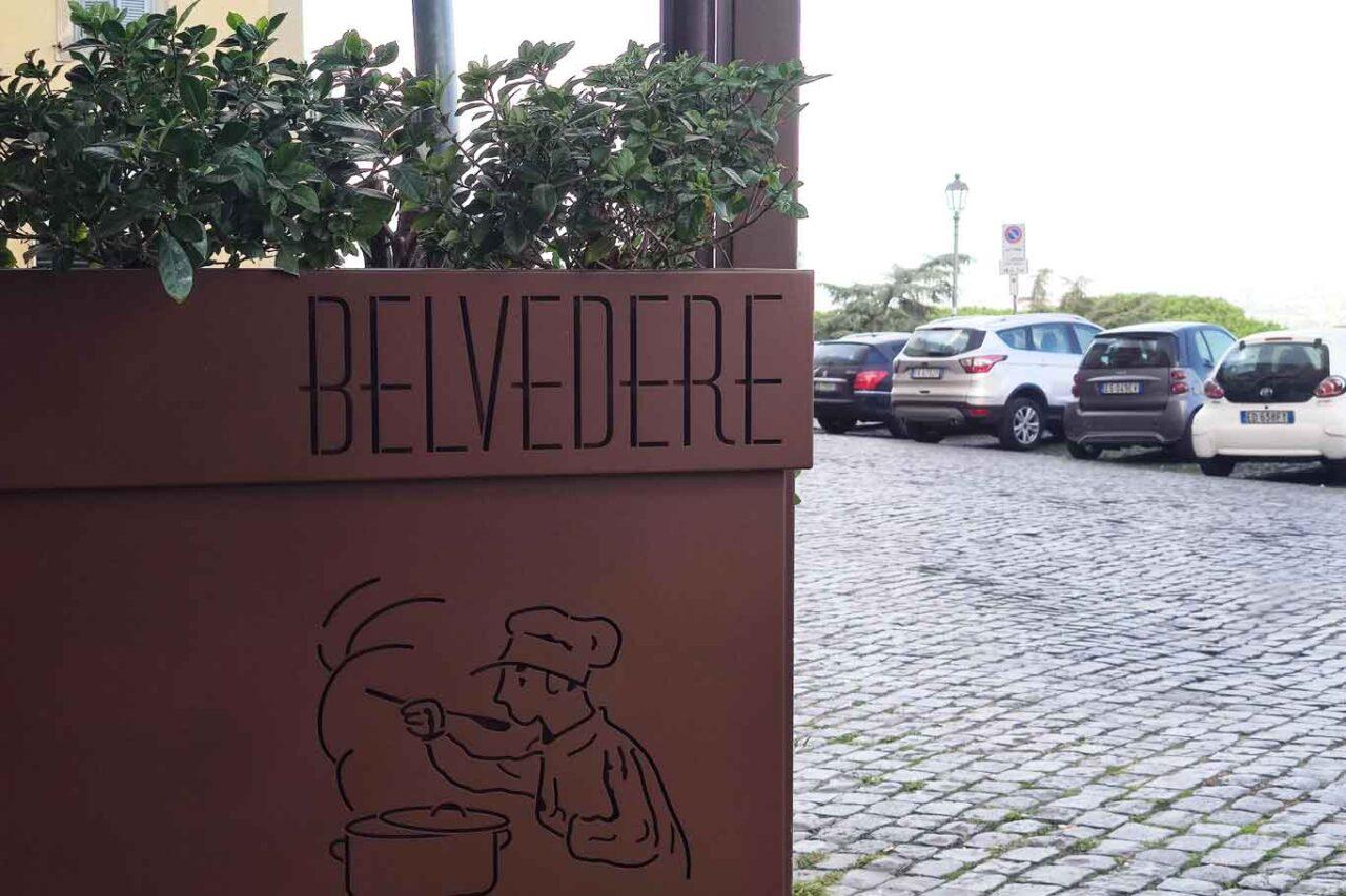 Il ristorante Belvedere di Frascati