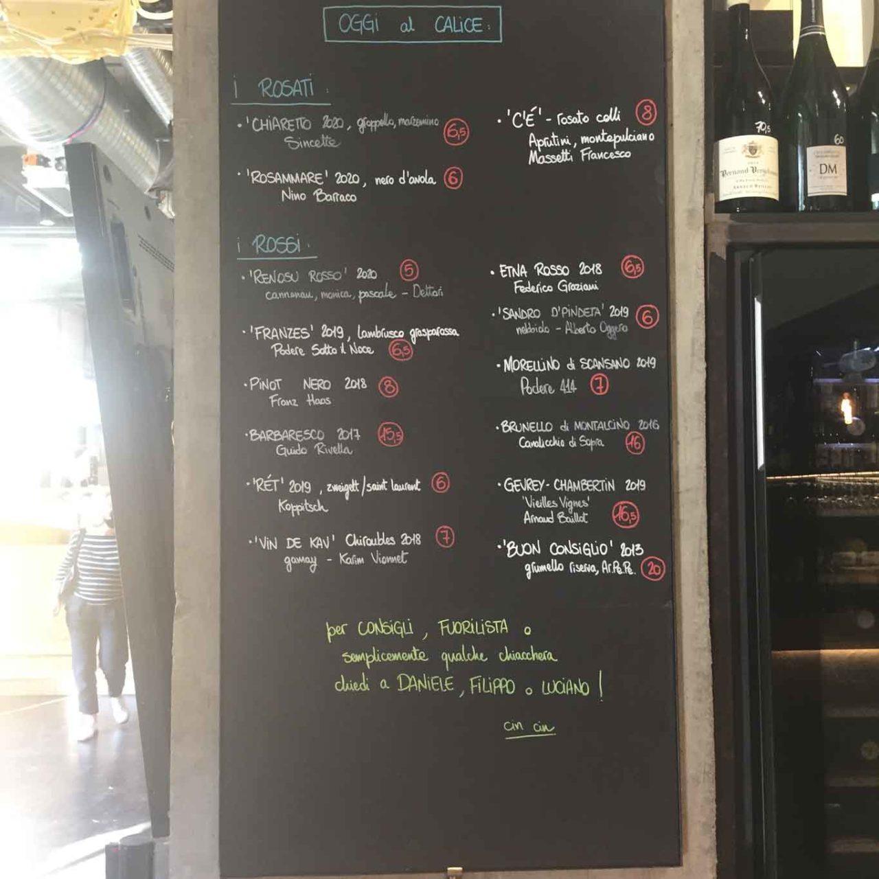 tannico carta vini del giorno