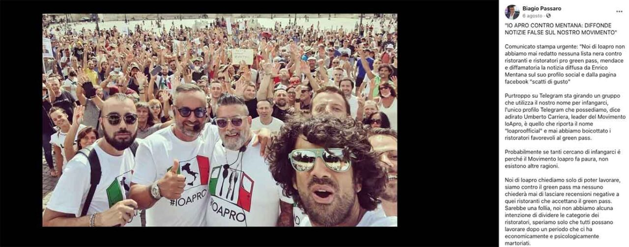 Biagio Passaro contro Scatti di Gusto e Andrea Scanzi