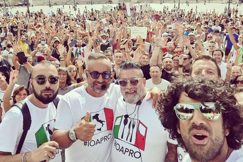 Biagio Passaro IoApro manifestazione