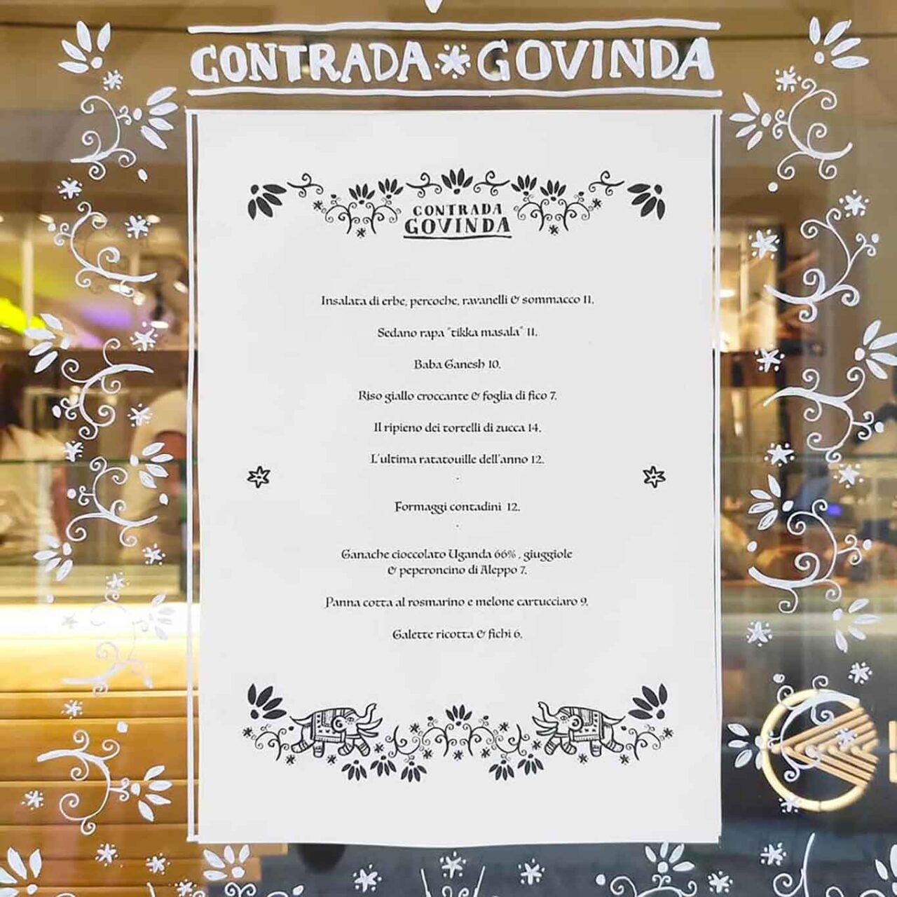 menu Casa Govinda