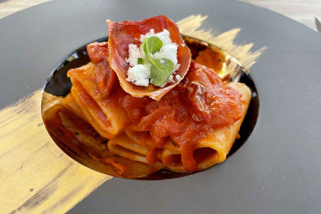La Tana del Principe ristorante Mercato San Severino paccheri ai pomodori