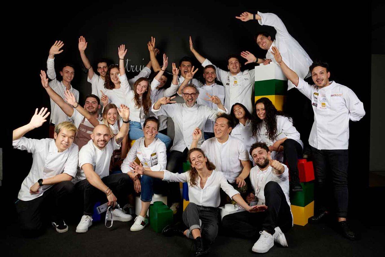 Massimo Bottura e lo staff