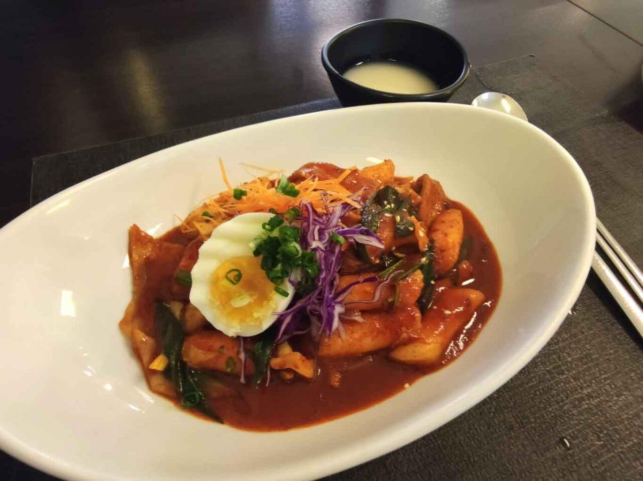 ristorante coreano Gainna a Roma:  gnocchi di riso